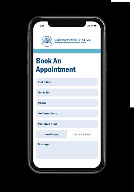 Willowparkdental mobile screenshot