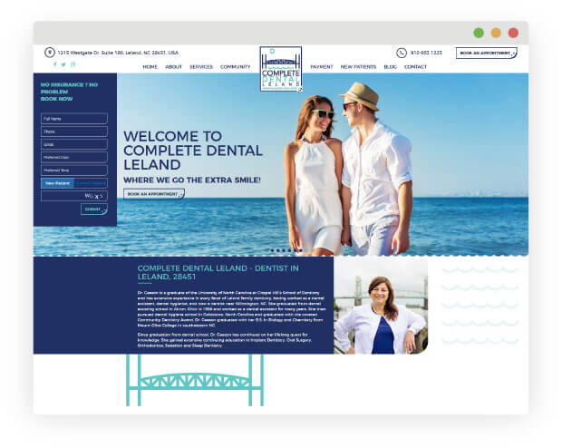 Create a Dental Website with a Clean Design